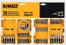 70-Piece Dewalt Tough Grip Steel Hex Shank Screwdriver Bit Set