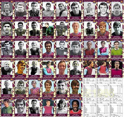 West Ham United década de 1960 debut Colección Fútbol Trading Cards