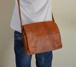 Bag Men Leather Vintage S Messenger Satchel Shoulder Laptop Genuine Briefcase