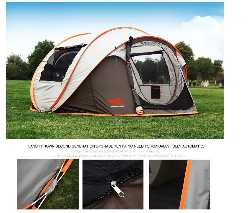 Large Tent Ultralight Camping  Waterproof Windproof Windproof Waterproof  Automatic Tent 5-8 Persons 030185