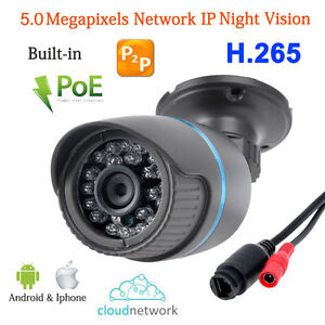 Anbvision H.265 5.0MP 2592x1944 24IR POE Network P2P CCTV IP IR Camera Onvif H