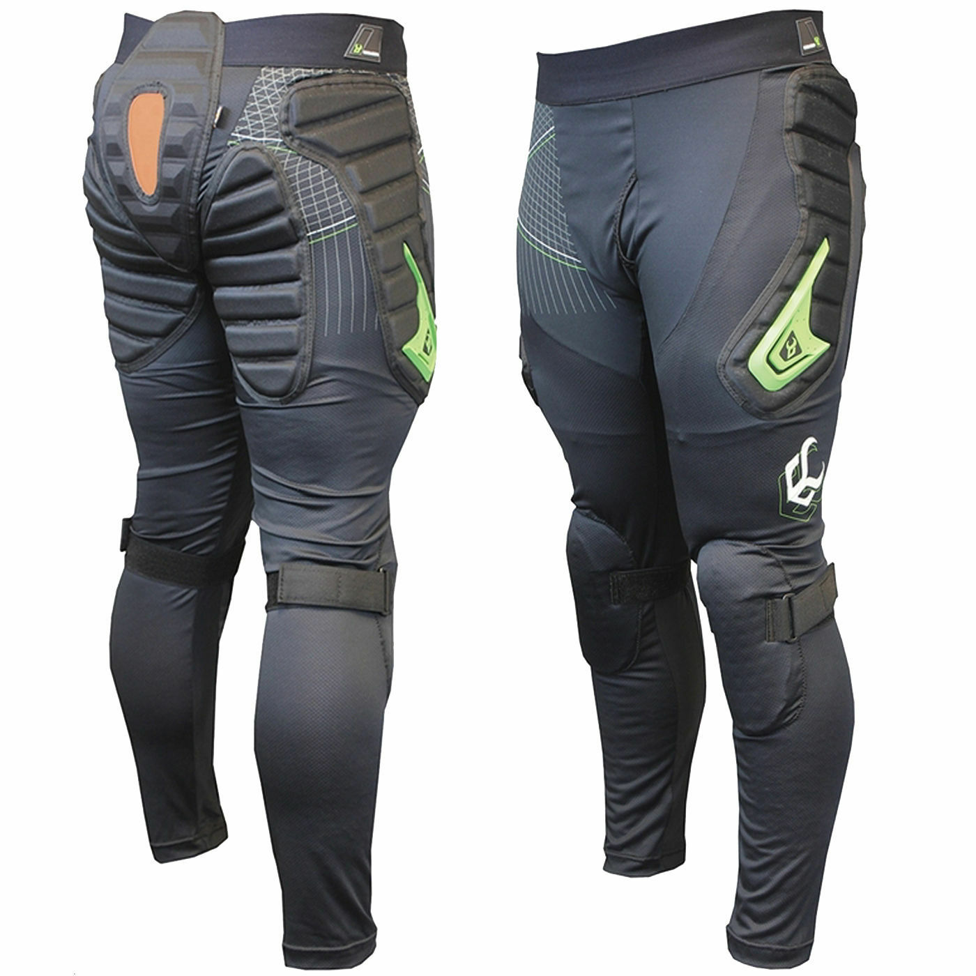 DEMON V2 --X D30 Long Padded Snowboard Pants  Hips, Bum  Knie Pads --DS1491