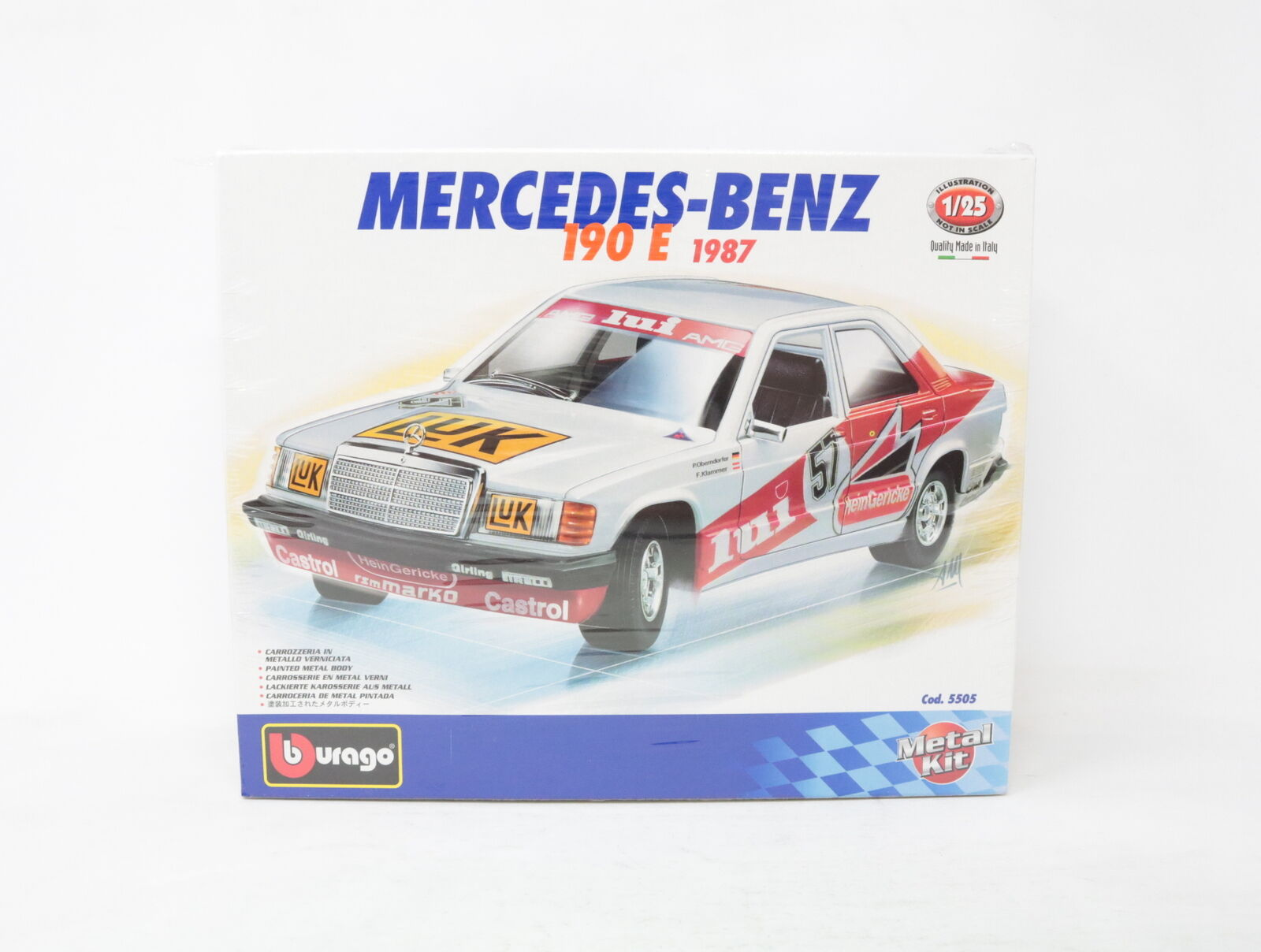 1 25 BBURAGO Metal Kit Mercedes Benz 190e COD. 5505 [ye-020]