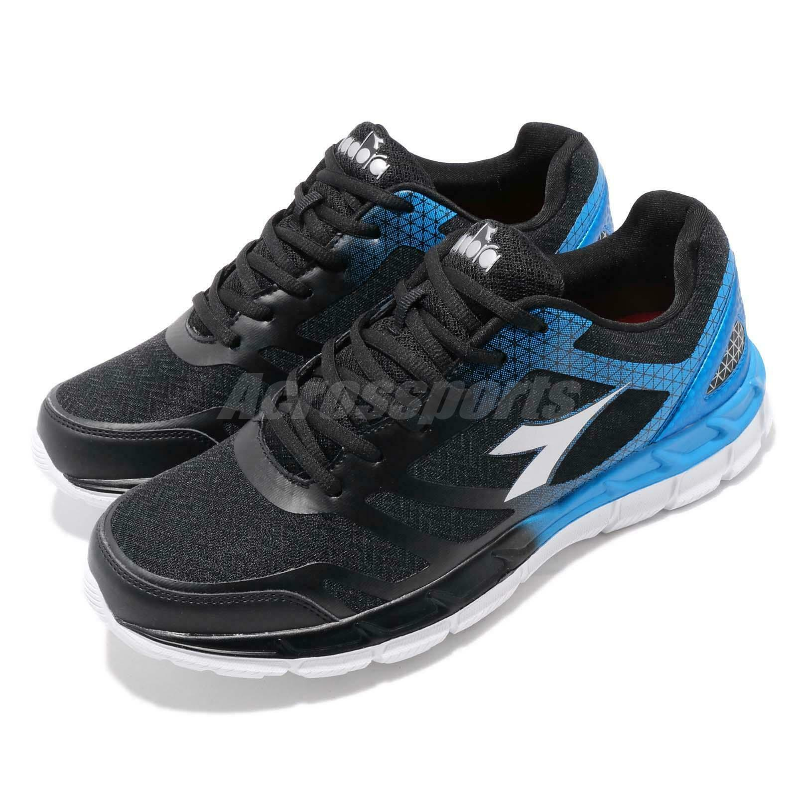 Diadora DA9AMR6930 negro azul blanco Men Running Walking Casual zapatos zapatillas