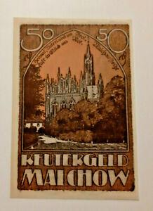 MALCHOW-REUTERGELD-NOTGELD-50-PFENNIG-1922-NOTGELDSCHEIN-10799