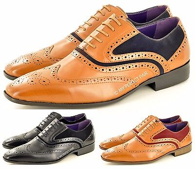 Frank New Men's Casual Formal Lace Up Wingtip Brogue Fashion Shoes In Uk Sizes 6-11 Exquisite (In) Verarbeitung