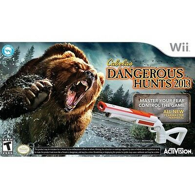 New Sealed Wii Cabela's Dangerous Hunts 2013 Limited Edition Double Gun Bundle