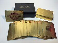 Spielkarten 24K Gold Pokerkarten Dollar Skat Kartenspiel Plastik hochwertig Neu