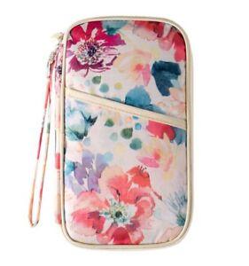 Organiseur-de-voyage-porte-passeport-porte-cartes-Fleurs-Fond-blanc