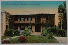 Vintage Unused Postcard Bermuda St Anges & Centuryplants In Bloom Hamilton