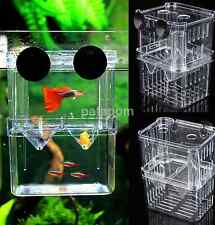 Aquarium Fish Tank Breeding Breeder Baby Newborn Fry Trap Box New US