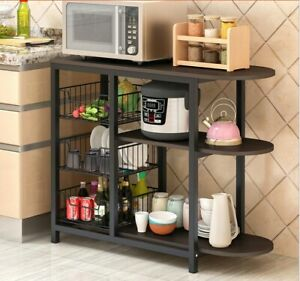 """3-Tier 24/"""" Microwave Stand Storage Kitchen Baker/'s Rack Utility Microwave Holder"""