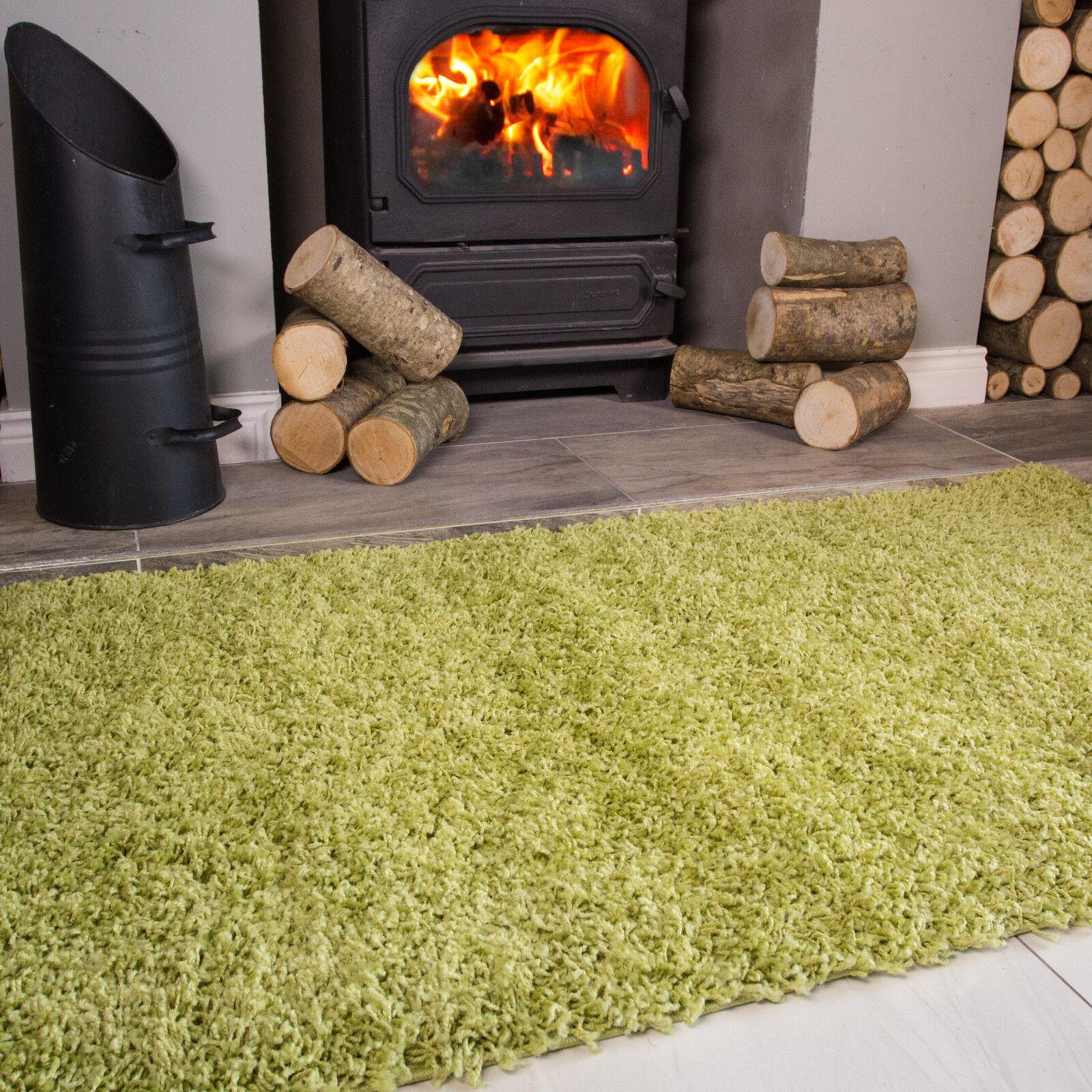 Moss Grass Earthy Grün Warm Shaggy Pile Area Rug Living Living Living Room Bedroom Floor Rugs a5a453