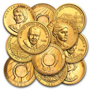 U-S-Mint-1-2-oz-Gold-Commemorative-Arts-Medal-Random-SKU-8893