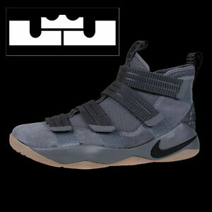 timeless design 357d6 f5bfc Image is loading NIKE-LEBRON-SOLDIER-XI-11-SFG-034-GREY-