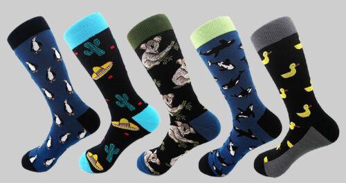 Mens Novelty Cotton Socks Duck//Penguin//Whale//Koala//Mexico Patterns Fun1pc