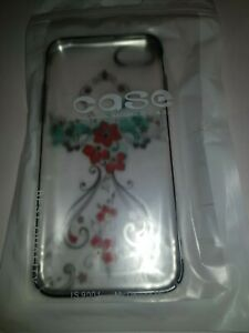 iPhone-6-7-amp-8-Clear-Back-Cover-FLOWERS-by-Kingxbar-SWAROVSKI-ELEMENTS-NEW