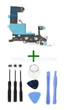For iPhone 5 White Charging Port + Tools - Replacement Charger Flex USB Dock