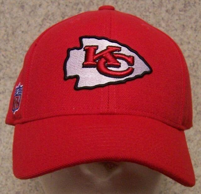 dec9c6cab9c Embroidered Baseball Cap Sports NFL Kansas City Chiefs NEW 1 size fit all  Reebok