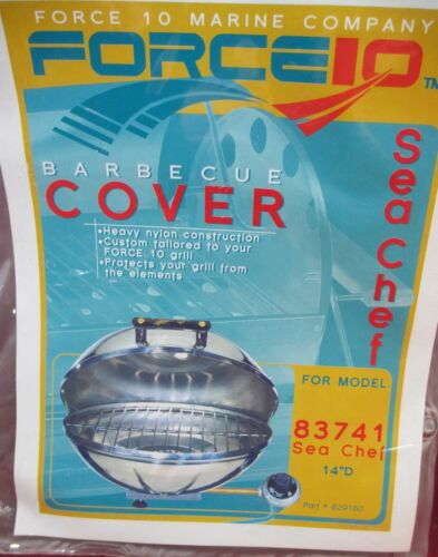 """FORCE 10 MARINE GRILL COVER MAGMA 83741 SEA CHEF 14/"""" 829160 KETTLE BBQ BOAT"""
