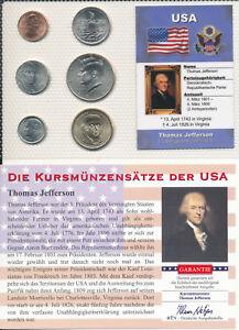 Usa Kms 6 Münzen Aus 2007 2011 T Jefferson Unc Satz Mit Btn