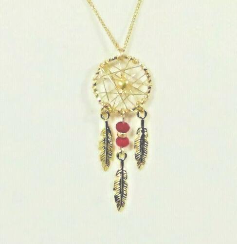 Dream Weaver Pendant Necklace Fine Gold Tone Chain
