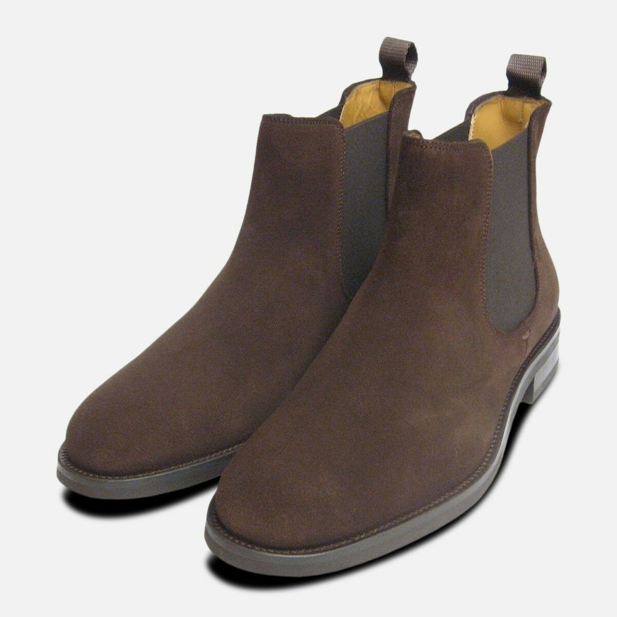 John blancooo Zapatos Chelsea R botas en Marrón de ante Suela de Goma