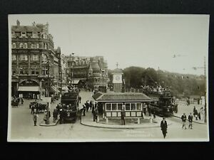 BOURNEMOUTH-The-Square-showing-Tram-Terminus-Old-RP-Postcard-by-Bailey