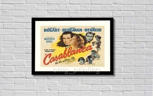 Casablanca Film Movie  Bogart Print Poster  A3 A4  Vintage Retro