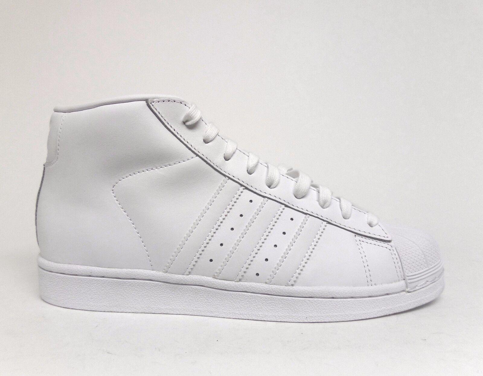 Adidas Men's ORIGINALS PRO MODEL Basketball Shoes White/White AQ5217 a