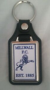 Millwall-F-C-leather-fob-Keyring-Ideal-gift-for-Millwall-fan