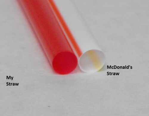 "1500 piece 7.75/"" GIANT RED SMOOTHIE STRAWS fat drinking soda straw FREE SHIP"
