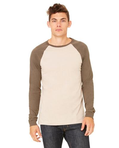 Canvas Mens Longsleeve Baseball Jersey T Shirt Raglan Jersey  S-2XL 3000-3000C