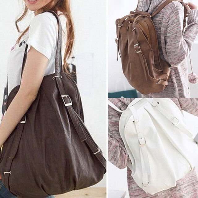 Fashion Ladies Women PU Leather Handbag Tote Messenger Shoulder Bag Backpack