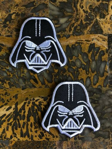 "2 Darth Vader Star Wars Iron On Sew On Patch 2.5/""L x 2.75/""W Same Day Ship"