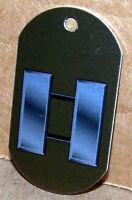 Captain O-3 Us Army Rank Insignia On An Aluminum Dog Tag Key Made In Usa