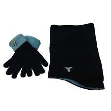 LAZIO set scadacollo+guanti blu in morbido e caldo pile da uomo prodotto ufficia