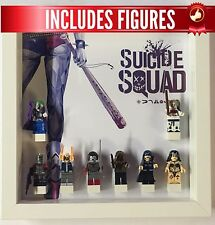 Lego Frame Suicide Squad custom minifigure Display Case Frame + Figures