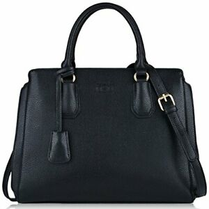 kommt an zu Füßen bei schnelle Farbe Details zu Schwarze Handtasche, COOFIT Damen Handtaschen Gross  Lederhandtasche (Schwarz)