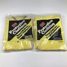 Uniroyal Protective Rain Suit Clothing Overalls Amp Jacket Large Yellow Tough Usa