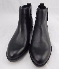 RALPH LAUREN SHIRA Black Leather Booties Short Boots Shoes 7B  $139