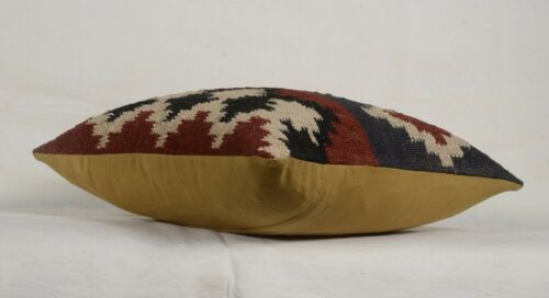 Set Of 3 Pcs Handmade Kilim Jute Cushion Cover 18x18 Hand-woven Rug Pillow Cases