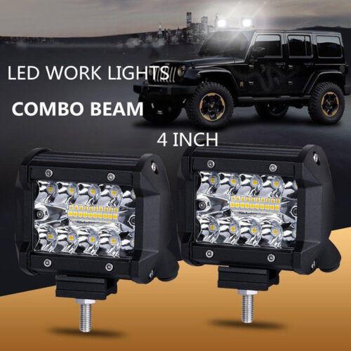 "4/""Inch 60W 20LED Work Light Flood Spot Combo Off-road Driving Fog Lamp Boat SUVG"