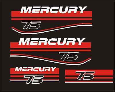 Adesivi motore marino fuoribordo Mercury 75 90 ho elpto 2 tempi optimax