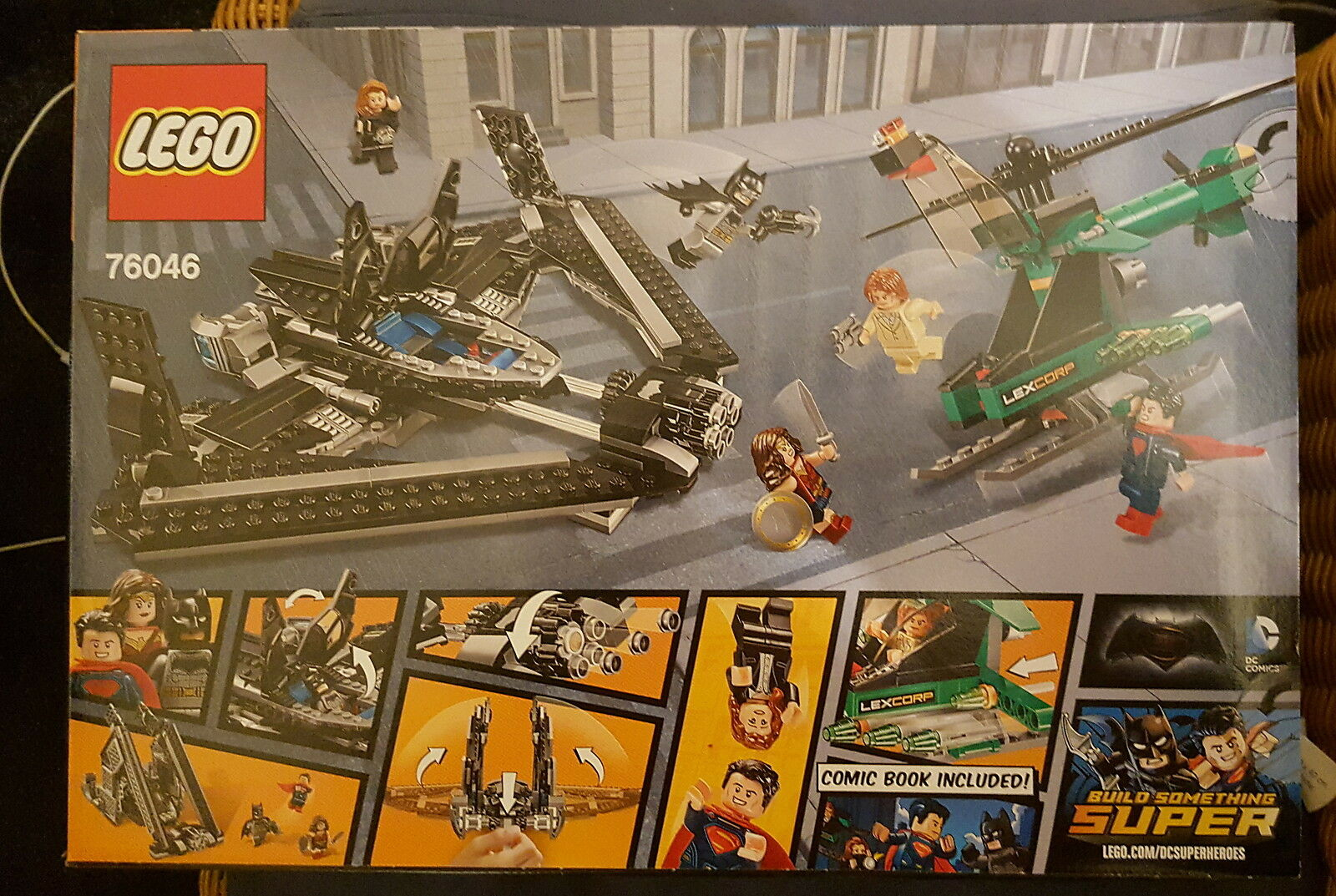LEGO DC Super Heroes 76046-Héros de la justice Sky High bataille-New & Sealed