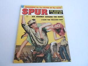 (ABC) APRIL 1959 SPUR vintage mens adventure magazine -  GREAT COVER