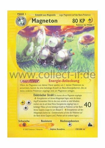 Pokemon Skyridge 19//144 Magneton Deutsch