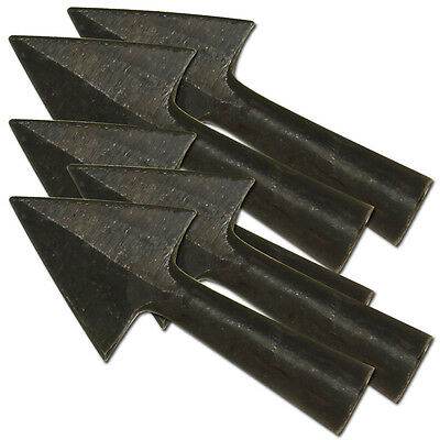 Anglo Saxon Iron Warfare  Medieval Renaissance 5 piece Set Triangle Arrowheads