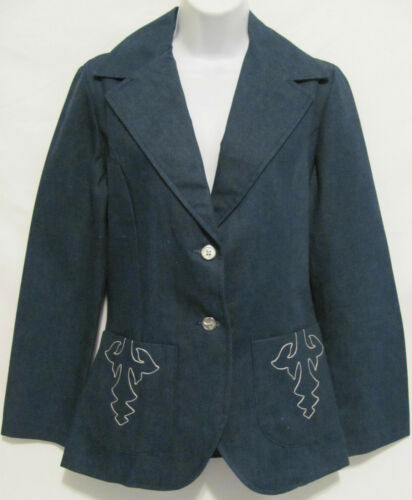 ricamato Blu Womens Sport West Prior Stage Rodeo Cowgirl Sz Western 34 scuro 8fPppxqEw