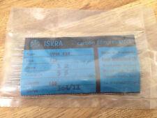 100x Iskra UPM 033 1M ohm Carbon Film Resistors 5% 1/3 watt 1MΩ